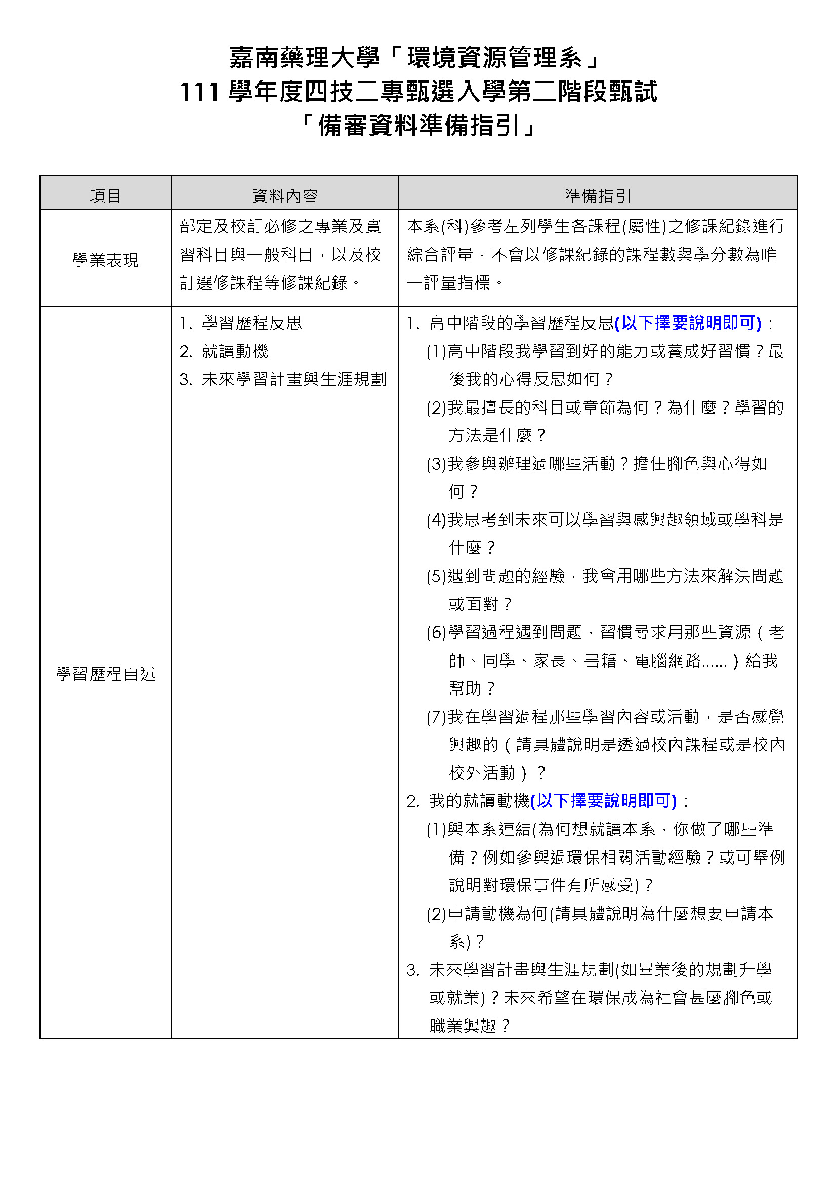 111甄選入學「備審資料準備指引」環境資源管理系20210805_頁面_1